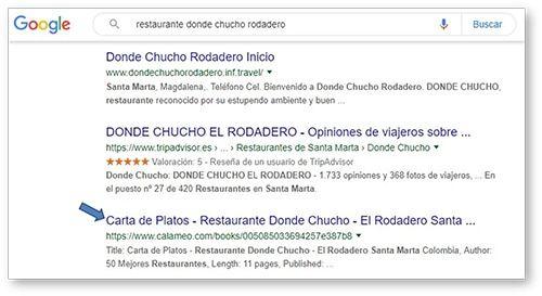 SEO_calameo_carta_restaurante_donde_chucho